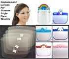 Spare Lenses Glasses Face Shields Full Protection Cover No Frame Child Adult Lot