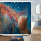 Universe And Planet Shower Curtain Bathroom Decor Fabric 12hooks 71in