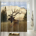 American Prairie Reindeer Shower Curtain Bathroom Decor Fabric 12hooks 71in