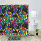 Psychedelic Jellyfish Mushroom Shower Curtain Bathroom Decor Fabric 12hooks 71in