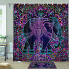 Asian Zen Elephant Shower Curtain Bathroom Decor Fabric 12hooks 71in