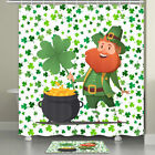 Irish Leprechaun And Gold Coin Shower Curtain Bathroom Decor Fabric 12hooks 71in