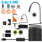 5M 8LEDs Snake Endoscope Borescope 8mm Inspection USB Camera Scope for Android