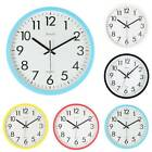 Retro Round Wall Clock Silent Sweep Movement Kitchen Bedroom Modern Home Decor