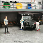 RaceMedal 1:64scale figures diorama House Bunny Girl Acting cute 1/64collect
