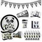 Cartoon Panda Pattern Theme Disposable Tableware Set Birthday Party Decoration