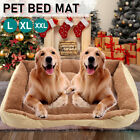 Deluxe Soft Washable Dog Pet Warm Basket Bed Cushion Fleece Bed L/XL/XXL 3 Sizes