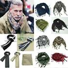 Mens Military Arab Tactical Army Scarf Shemagh KeffIyeh Tassle Mercenary Scarf