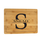 "Personalized ""Monogram"" Bamboo Cutting Board"