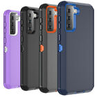 For Samsung Galaxy S21 S21 Ultra Case Defender Shockproof Silicone Armor Cover