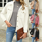 Fashion Ladies Womens Autumn Casual Long Sleeves Solid Color Jacket Coat