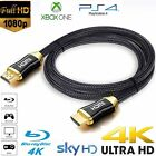 4K HDMI Cable 2.0 HIGH SPEED PREMIUM GOLD PLATED BRAIDED LEAD 2160P 3D HDTV UHD