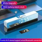 LED Soundbar Clock Wireless Bluetooth Speaker Home Theater Computer Speakers
