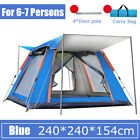 7 People Automatic Waterproof Outdoor Instant Popup Tent Windproof UV Camping US