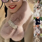 Furry Womens Scarf Neck protection Winter Warm Thermal Faux Fur Long Soft