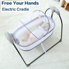 Electric Baby Cradle Automatic Rocking Swing Metal Bed Crib Smart Nursing Device