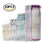Reusable Mason Jar Bottles Bags Food Snack Zipper Bags Seal Food Container Lots