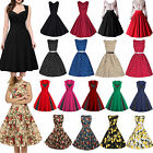 Women 60s Vintage Rockabilly Pinup Swing Floral Cocktail Party Vintage Dress