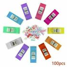 50/100PCS DIY Clips Clamp for Craft Quilting Sewing Knit Crochet Multicolor US