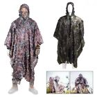 Hunting Ghillie Suit 3D Leafy Camo Poncho for Women Men Outdoor Games Play Fun