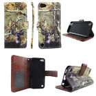 WALLET CASE FOR IPOD TOUCH 5 5TH MAGNETIC FLIP CARD SLOT STRAP KICKSTAND COVER