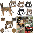 Military Tactical Dog Harness K9 Vest Nylon Bungee Dog Leash Harness (SEE VIDEO)