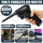 45000 RPM Cordless Electric High Pressure Air Duster Computer Cleaner Blower