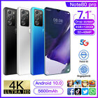7.1'' Android 10.0 Drop Screen Smart Phone 8g+128g Dual Sim Card 5g Note80 Pro