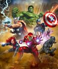 Avengers Team Assemble War Paint By Numbers Kit DIY Painting Colorful Artwork