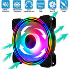 3Pcs LED Computer Case Cooling Fan 120mm Silent Aseismatic CPU Cooler Radiator