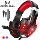 KOTION EACH 3.5mm Gaming Headphone Stereo Game Headset W/mic LED for PC E8T5