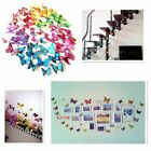12 X 3d Butterfly Wall Stickers Home Decals Decor For Bedroom Girl Kids
