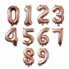 16/32inch Number Balloons Aluminum Foil Rose Gold Silver Digit Figure Balloon