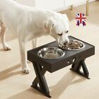 Raised Pet Feeder Elevated Double Bowls Twin Puppy Water Food 2 Colors