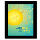 Here Comes the Sun by the Beatles - Classic Rock Music Print, Canvas, or Plaque