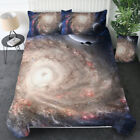 Galaxy Duvet Cover Set Reversible Quilt Sky Outer Space Bedding for Comforter