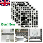 60x Kitchen Tile Stickers Bathroom Mosaic Sticker Self-adhesive Wall Home Decor