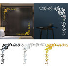 Flower Removable Wall Sticker 3d Mirror Decal Home Indoor Decoration Accessories