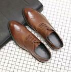 Men's Formal Dress Shoes Italian Smart Wing Tip Oxfords Lace Up Brogue Shoes New