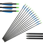 12pcs 32'' Fiberglass Arrows with 3'' feathering for Recurvebows Removable tips