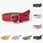 Baby Toddlers Faux Leather Jeans Corset Waist Belt Square Buckle Waistband Belt