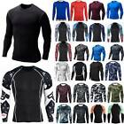 Long Sleeve Men T-Shirt Baselayer Cool Dry Compression Stretch Gym Sports Top