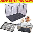 Foldable Metal Pet Dog Play Pen Welping Exercise Fence Pen With Gate Heavy Duty