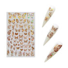 3D Butterfly Nail Stickers Waterproof DIY Nail Art Design Decal