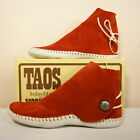 NEW TAOS INDIAN MAID Womens MOCCASINS Button Rust 2060w