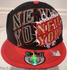 NEW BLING HIPHOP DANCE RED FITED FLAT BASEBALL HAT CAP