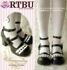 Sweet Lolita BJD Dolly Style Picot Bow Heel Mary Janes