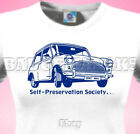 Austin morris or Rover MINI Italian Job Ladies Cotton T-SHIRT Shows & Rallies
