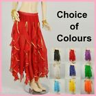 Belly Dance Frills Skirt With Gold Sequin Trim Dancing AS05