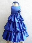 ROYAL BLUE WEDDING FLOWER GIRL DRESS SIZE 2 4 6 8 10
